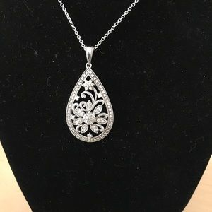 Pear Shaped Marcasite Pendant